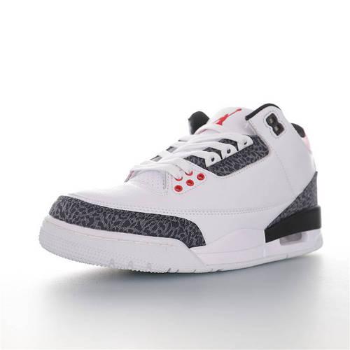 """Air Jordan 3  SE Denim""""Fire Red"""" 火焰红又要来了 AJ3代中帮复古休闲运动文化篮球鞋 单宁火焰红白水泥爆裂纹配色 CZ6431-100"""