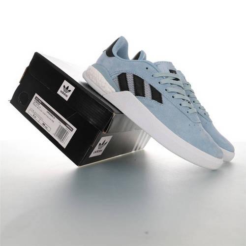 Adidas Originals Skateboarding 3ST.004 Suede 阿迪达斯爆米花缓震低帮休闲运动专业滑板板鞋 麂皮浅月蓝黑白配色 F36854