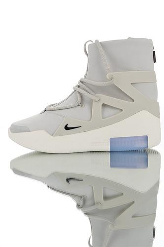 Fear of God x Nike Fear of God 1 2019神级之鞋 恐惧之神联名 头层牛巴革材质 韩国进口拉链扣 高性价比 高街气垫前卫高筒休闲鞋 哑灰配色