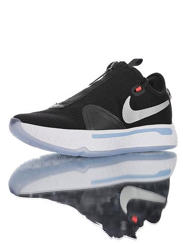 Nike PG4 保罗乔治4代系列 全掌Air Strobel气垫+XDR耐磨外底 黑白银灰冰蓝配色 CD5082-001