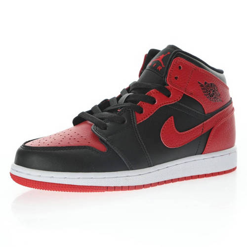 """Air Jordan 1 Mid GS""""Banned"""" 反转禁穿黑红脚趾 554725-074"""