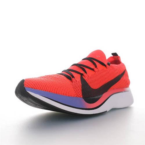 Nike Zoom Vaporfly Flyknit 4% 飞线马拉松超级休运动跑鞋 荧光桔粉渐变紫黑钩配色 AJ3857-601