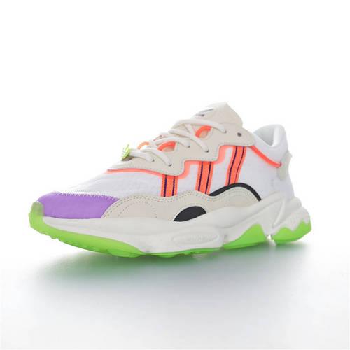 Adidas Ozweego adiPRENE 杨幂代言款 全新复古鞋型 阿迪达斯缓震复古老爹休闲运动慢跑鞋 网眼白橘浅灰紫果冻绿3M配色 FX3814