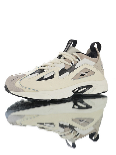 Wanna One x Reebok DMX Series1200 团体代言款 销量冠军 正确磨具打造完美鞋型 复古休闲增高运动老爹慢跑鞋 奶油白灰黑配色
