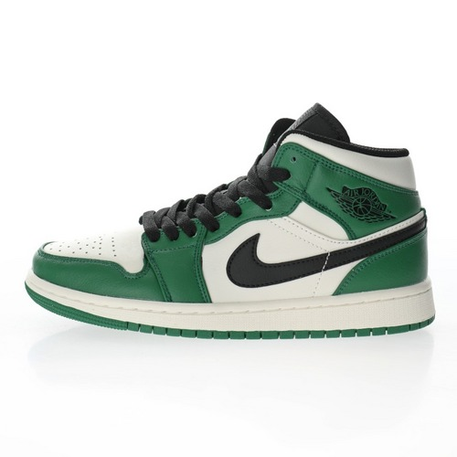 "Air Jordan 1 Mid""Pine Green"" 白绿脚趾凯尔特人""852542-301"
