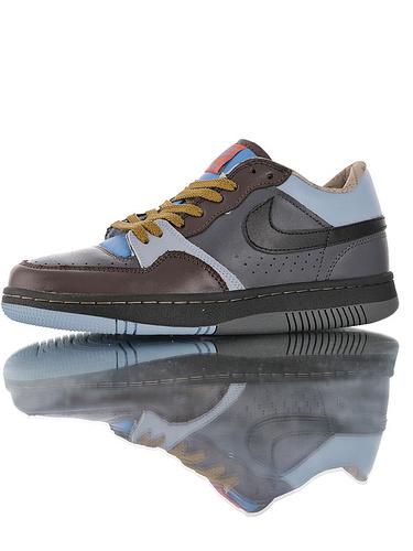 Nike Court Force Low Premium 25周年纪念限定 全新具开发 正确多材质品质还原细节 耐克网球空军系列低帮复古运动板鞋 深咖浅兰桔棕配色