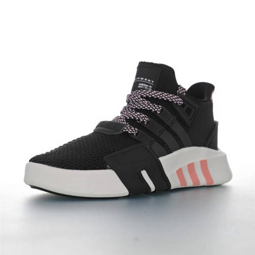 Adidas EQT Basketball ADV 三叶草新品 街头篮球短筒针织慢跑鞋 针织黑浅粉配色 G54480