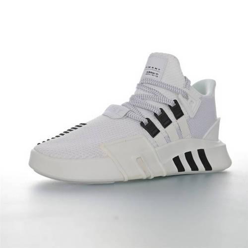 Adidas EQT Basketball ADV 三叶草新品 街头篮球短筒针织慢跑鞋 针织白黑条配色 BD7772