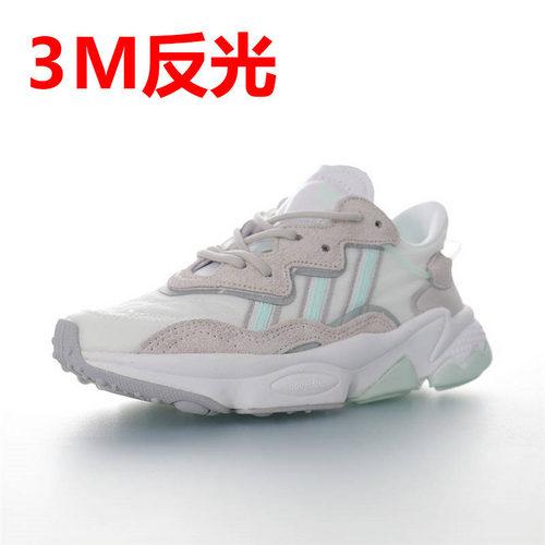 Adidas Ozweego adiPRENE 杨幂代言款 全新复古鞋型 阿迪达斯缓震复古老爹休闲运动慢跑鞋 网纱布浅灰白薄荷绿3M配色 FX3821