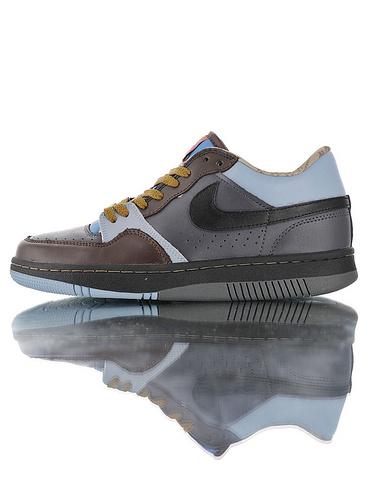 Nike Court Force Low Premium 25周年纪念限定 全新原模具开发 正确多材质品质还原细节 耐克网球空军系列低帮复古运动板鞋 深咖浅兰桔棕配色