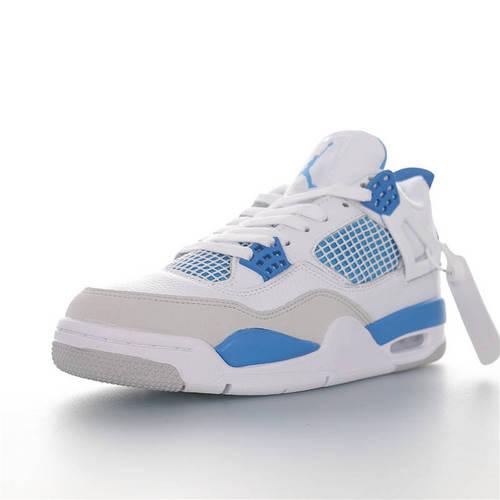 Air Jordan 4 Retro 迷人的摩托蓝 AJ4代中帮复古休闲运动文化篮球鞋 白蓝北卡蓝限定配色 308497-117