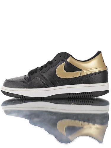 Nike Court Force Low Premium 25周年纪念限定 全新原模具开发 正确多材质品质还原细节 耐克网球空军系列低帮复古运动板鞋 黑金白配色