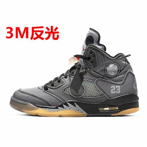 Off-White™ x Air Jordan Retro 5 OW黑蝉翼3M CT8480-001