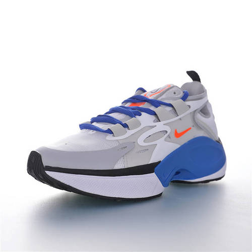 Nike Signal D/MS/X 让运动变得更高端时尚 复古老爹风增高效果 耐克邂逅系列休闲运动老爹风慢跑鞋 灰白宝蓝黑橙配色 AT5305-111