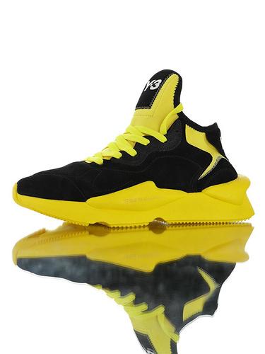 Adidas Y-3 Kaiwa Chunky Primeknit YohjiYamamoto三本耀司 凯瓦系列复古老爹鞋 正确多层组合大底 麂皮黑交通黄配色