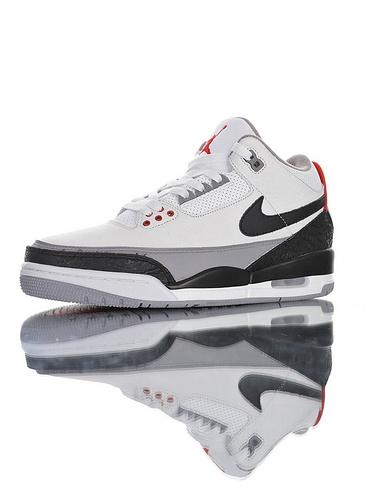 """Air Jordan 3 Retro NRG""""Tinker """" 采用头层荔枝纹皮革鞋面材质 还原ZP细节 厂级拉帮注胶 手稿白水泥钩子配色 AQ3835-160"""