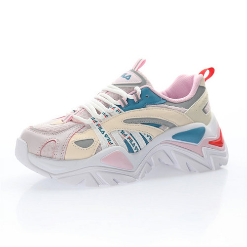 Fila Sport Interaction 米白灰水蓝粉红3M反光 F12W034120FGW