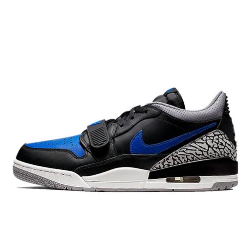 """Jordan Legacy 312 Low """"Black Blue"""" 具开发打造完美鞋型 正确皮料无色差 乔丹混合版本低帮休闲运动篮球鞋 黑蓝水泥配色CD7069-041"""
