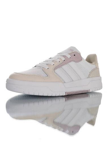 Adidas Neo Entrap 2020ss春夏新品 阿迪达斯生活 追赶系列轻便休闲运动百搭板鞋 网布奶黄白淡紫黄配色 FX3980