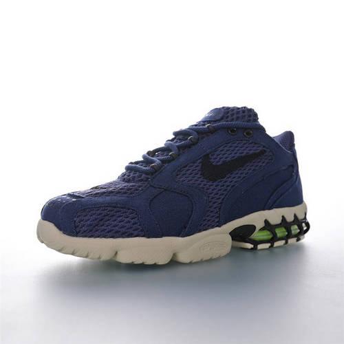 Stussy x Nike Air Zoom Spiridon Caged 2 美潮牌斯图西联名 斯皮里东牢笼2代系列 性价比版本 麻布海军蓝黑配色 CQ5486-600