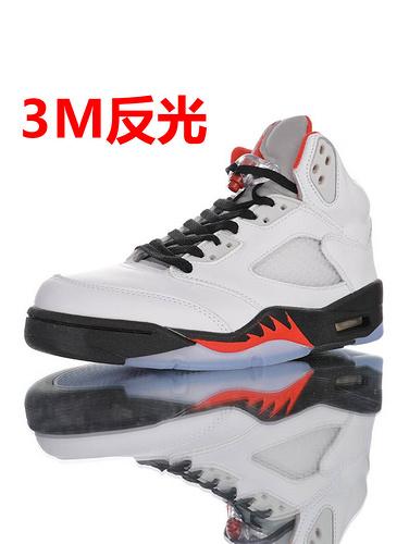 "Air Jordan Retro 5 OG""Fire Red"" 今年最值得买的OG 优选性价比版本 乔丹AJ5代复古篮球鞋 流川枫白红原色火焰红配色 DA1911-102"