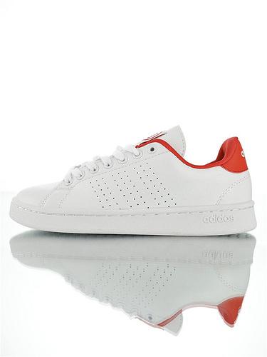 Adidas Neo Grand Court 2019阿迪达斯生活系列  学院风休闲运动小白板鞋 白大学红配色
