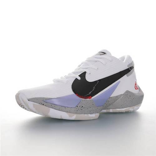 Nike Zoom Freak 2 陆军迷彩主题 NBA球星扬尼斯·安特托昆博 字母哥战靴 二代字母哥签名低帮休闲运动篮球鞋 白黑浅紫灰泼墨配色 CK5424-100