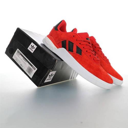 Adidas Originals Skateboarding 3ST.004 Suede 阿迪达斯爆米花缓震低帮休闲运动专业滑板板鞋 麂皮大学红黑白配色 DB3150