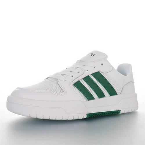 Adidas Neo ENTRAP 2020ss春夏新品 阿迪达斯追赶系列轻便休闲运动百搭板鞋 网白深绿配色  EH1688