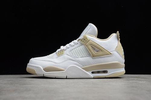 "Air Jordan 4""Linen""AJ4 Sand 沙滩正代 白金色 487724-118"