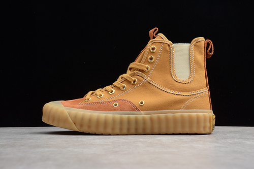 饼干板鞋 土黄