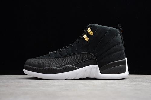AJ12 篮球鞋 黑白金130690-017