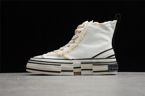 xVESSEL 吴建豪 G.O.PHIGHSBLACK 高帮硫化帆布帆布鞋 白色