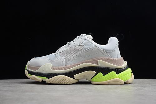 八层组合大底 GZ版本 巴黎世家 白荧光绿ECBA700687E 男女鞋