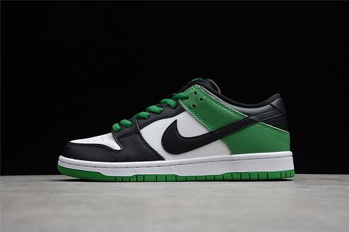 """NK SB Dunk Low Pro """"Classic Green""""黑绿脚趾 低帮运动板鞋 白绿黑 CZ5127-001"""