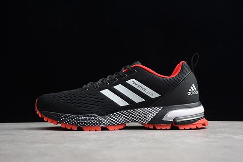 马拉松真爆 黑白红BW0105 男鞋
