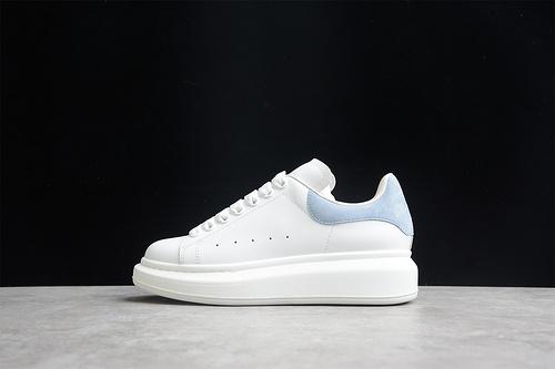 版本 礼盒装 Alexander McQueen/亚历山大麦昆 松糕鞋厚底增高小白鞋 雾霾蓝羊京 553700