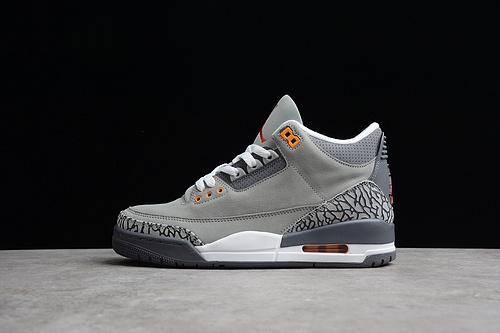 """Air Jordan 3 """"Cool Grey""""AJ3 酷灰 CT8532-012"""