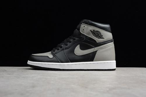 AJ1 黑灰 555088-013 男鞋