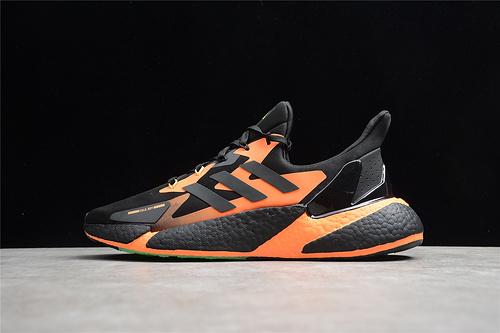 X9000L4 BOOST系列 黑橘 运动跑鞋 G54885