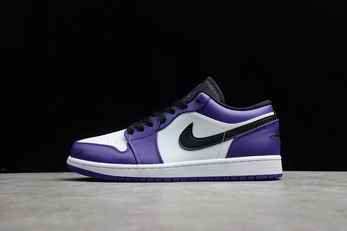 """CJ版本 Air Jordan 1 Low """"Court Purple""""AJ1 低帮 紫黑白 553558-500"""