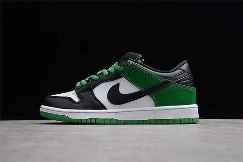 """NK SB Dunk Low """"Classic Green""""凯尔特人 黑脚趾  货号:BQ6817-302"""
