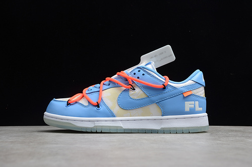 OFF-White x Futura xNike Dunk Low 蓝红白 DD0856-403