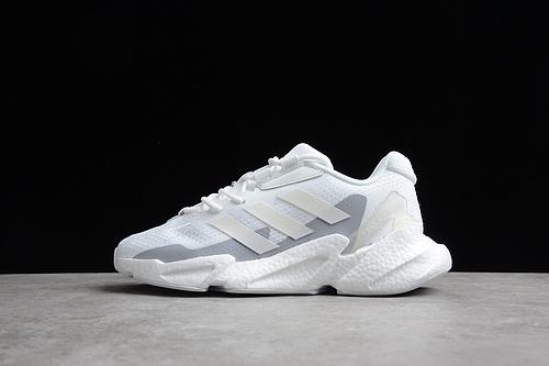 阿迪 X9000L4 M 真爆 超轻透气缓震慢跑鞋 3M 白浅灰 S23668