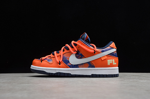 Dunk Low OFF-White x Futura xNike 三方联名 抽绳蓝橙色 DD0856-801