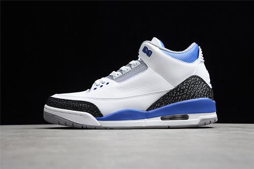 "GZ版本 Air Jordan 3 ""Racer Blue""赛车蓝爆裂纹 CT8532-145"