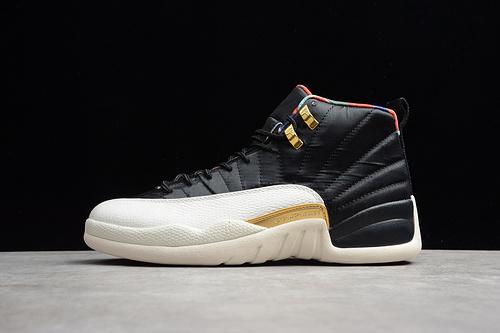 AJ12 篮球鞋 黑红黑白金扣CI2977-006