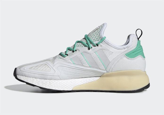 「阿迪达斯男鞋」adidas ZX 2K Boost鞋底搭载绿配色官方图片已发售--耐克高仿鞋批发封面